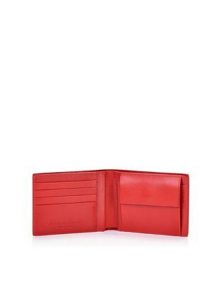 Scuderia Ferrari Online Store - Boarded leather bifold wallet - Horizontal Wallets