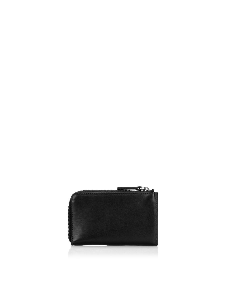 Scuderia Ferrari Online Store - Women's boarded calfskin leather key pouch -