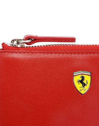 Scuderia Ferrari Online Store - Women's boarded leather key pouch - Keyholders