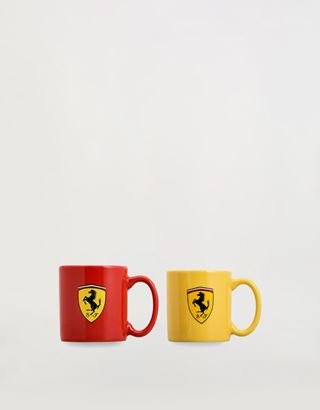 Scuderia Ferrari Online Store - Набор из маленьких керамических кофейных чашек Scuderia Ferrari - Кружки и чашки