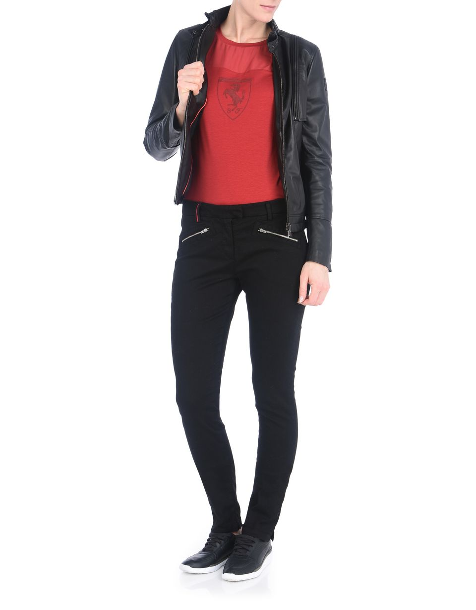 Scuderia Ferrari Online Store - Women's leather jacket -