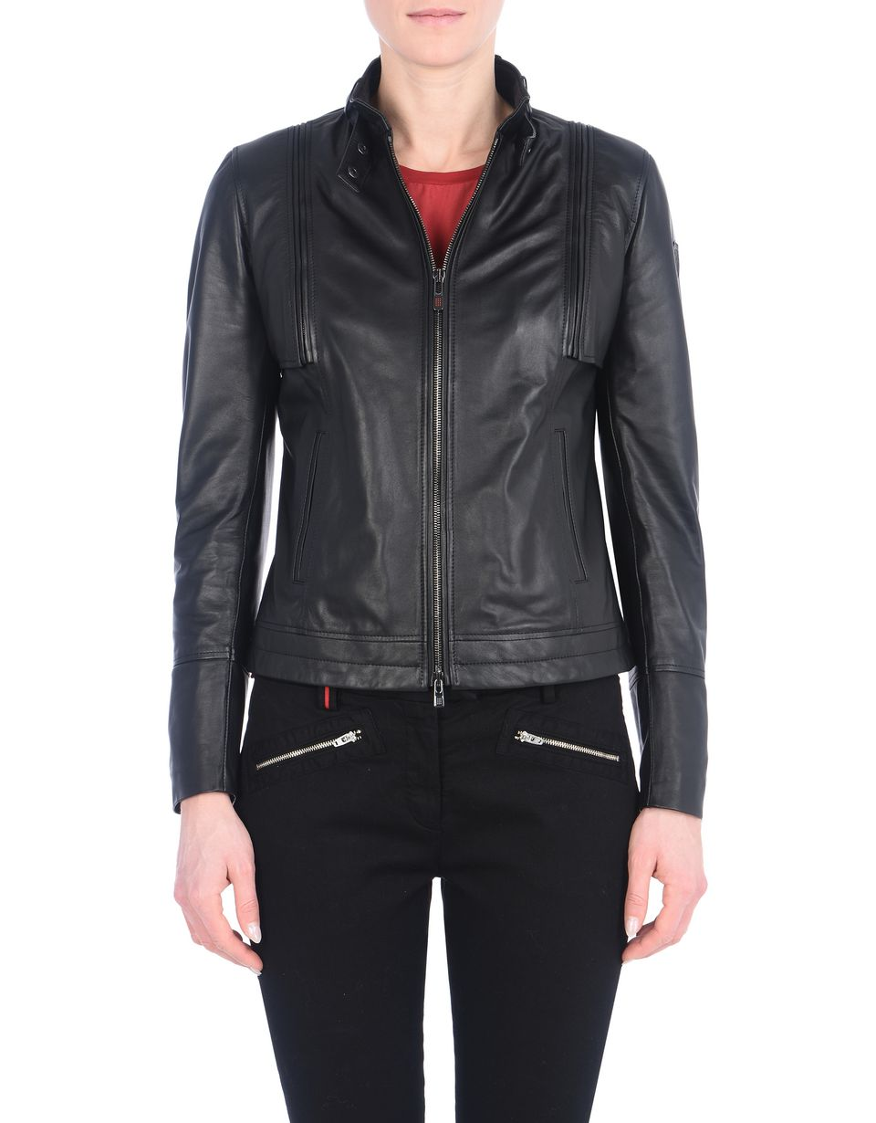 Scuderia Ferrari Online Store - Women's leather jacket - Leather Jackets