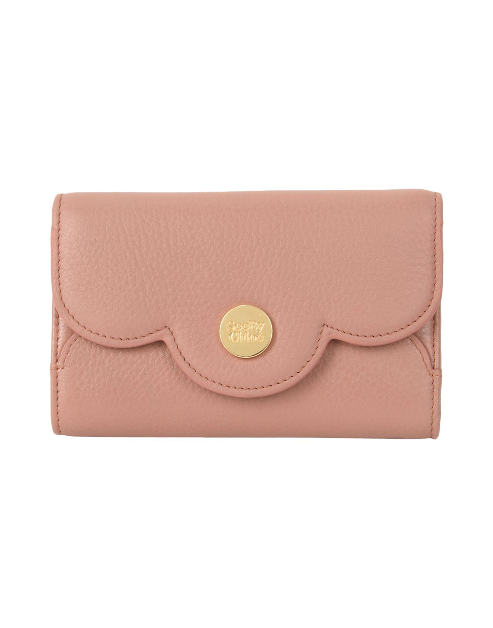 レディース SEE BY CHLO polina small medium wallet 財布  パステルピンク