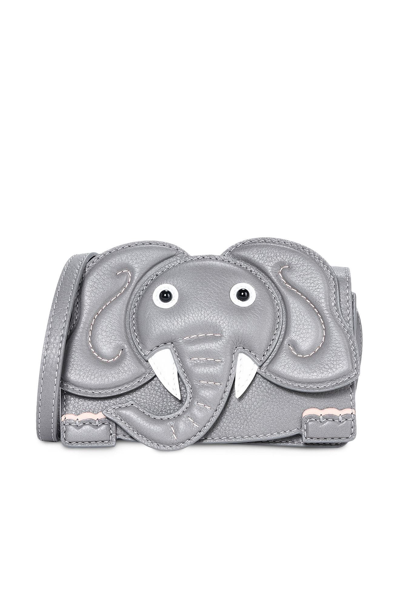 Mini bag elefante grigio