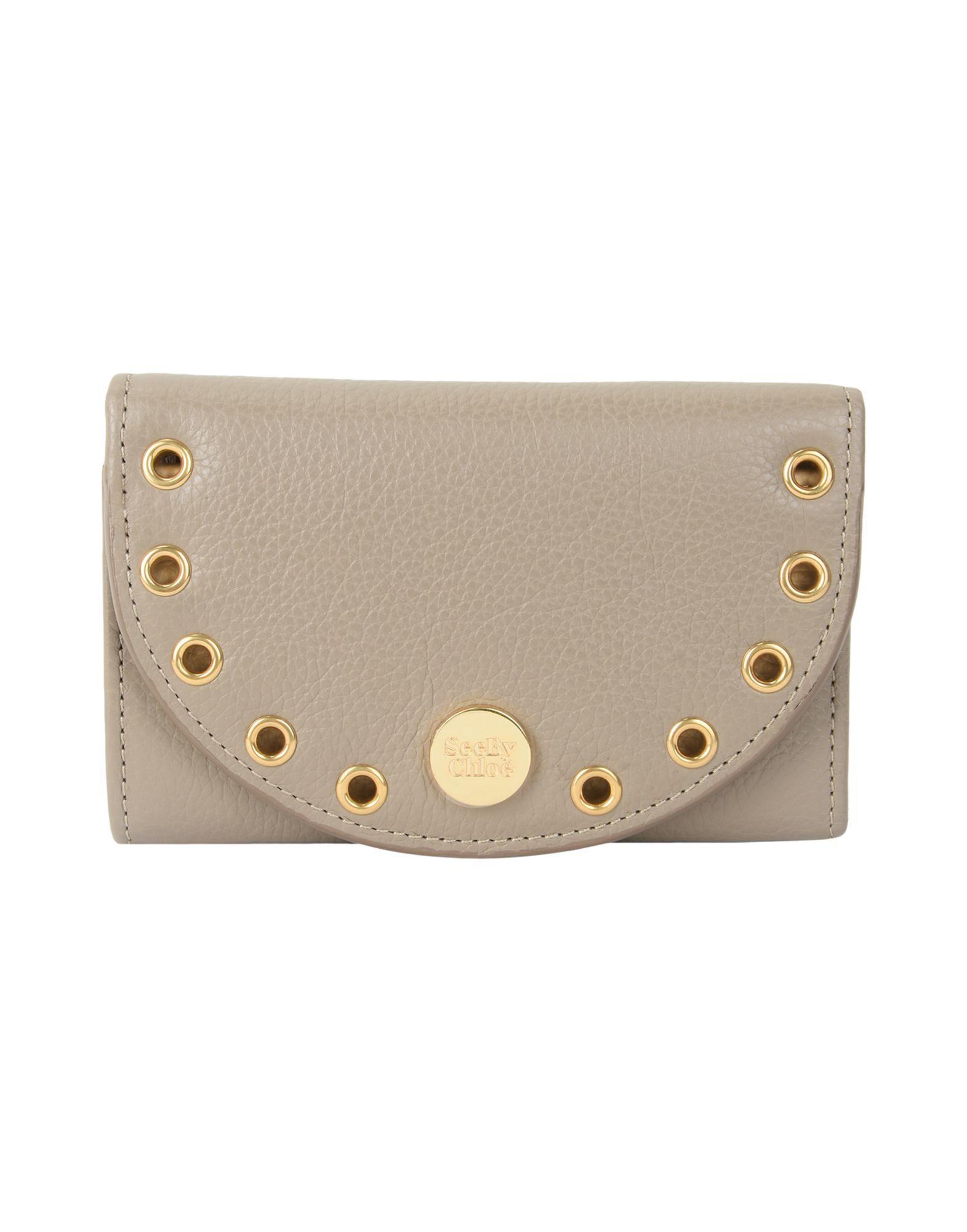 レディース SEE BY CHLO kriss medium wallet 財布  ドーブグレー