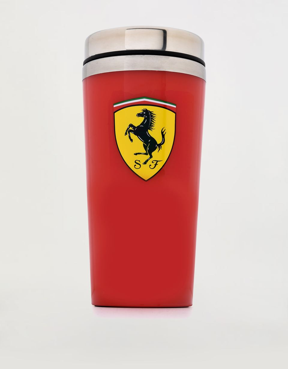 Scuderia Ferrari Online Store - Scuderia Ferrari thermal travel mug, 450 ml - Mugs & Cups