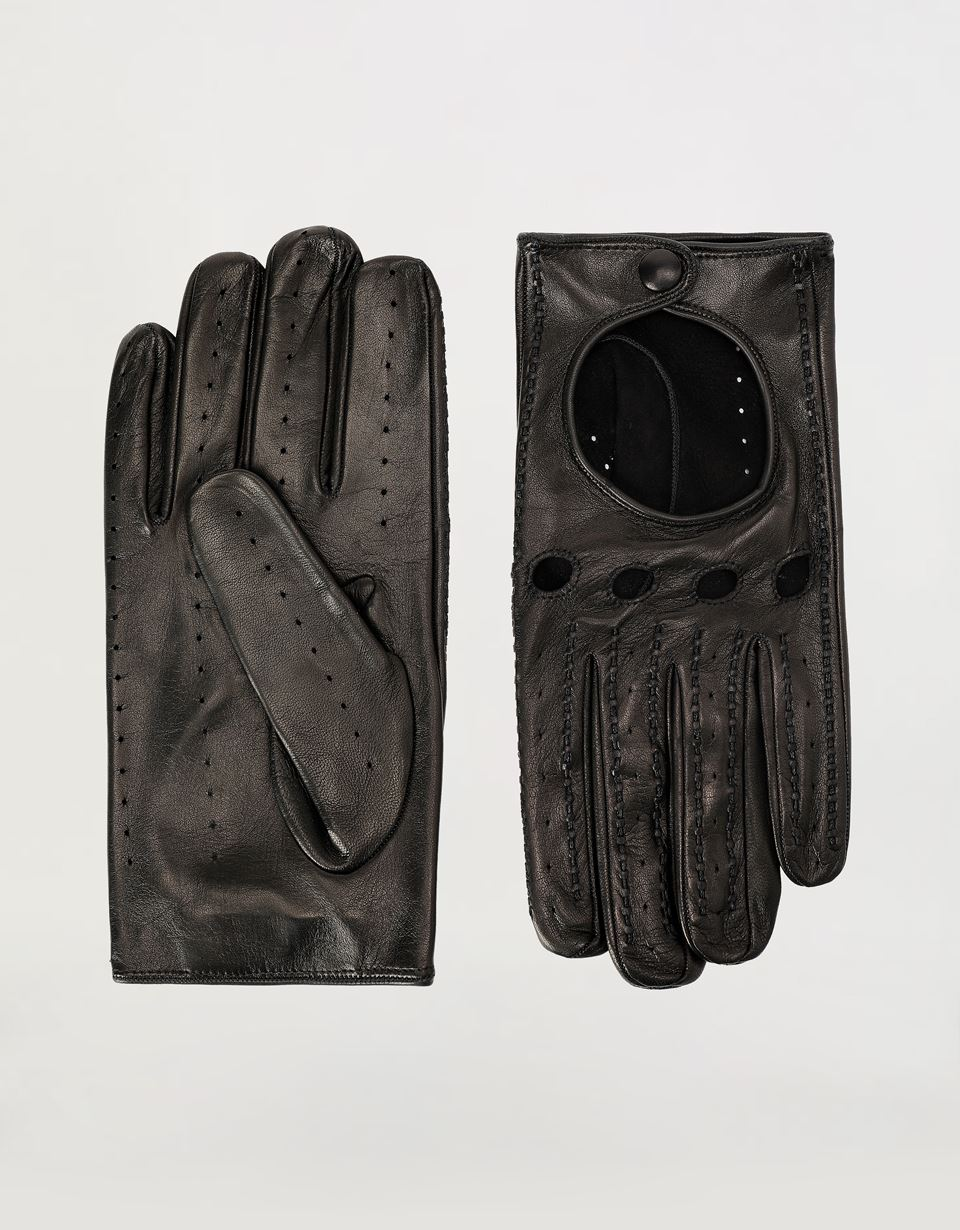 Scuderia Ferrari Online Store - Men's lambskin leather driving gloves - Regular Gloves