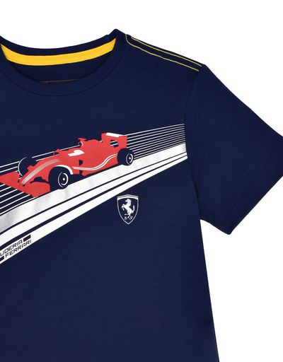 Scuderia Ferrari Online Store - Kids T-shirt in cotton jersey - Short Sleeve T-Shirts