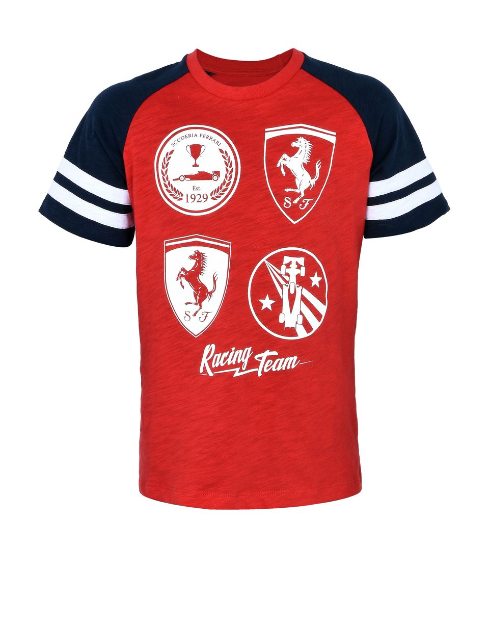 Scuderia Ferrari Online Store - Children's T-shirt with printed patches -
