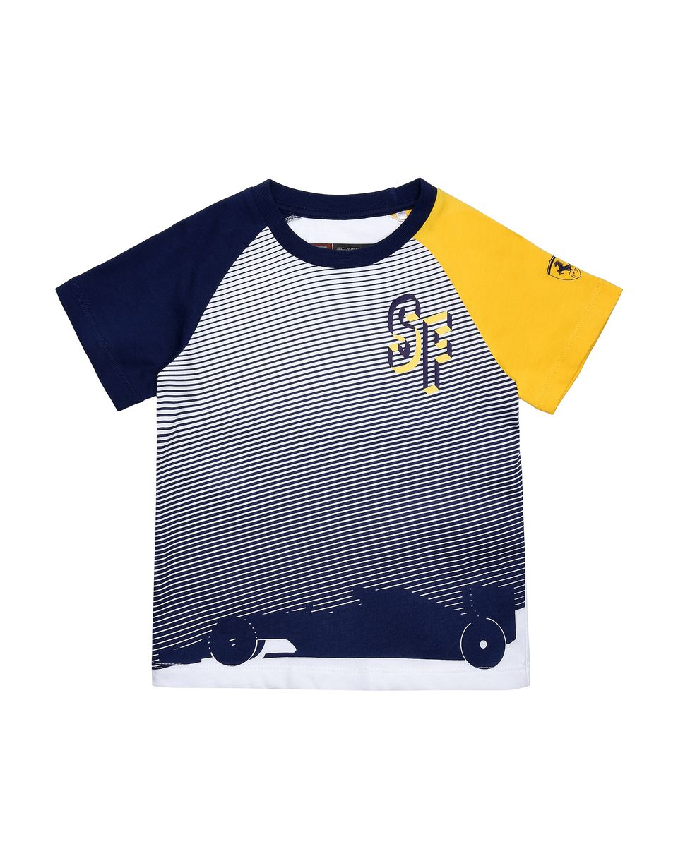 Scuderia Ferrari Online Store - Jersey T-shirt for teens with all-over print - Short Sleeve T-Shirts