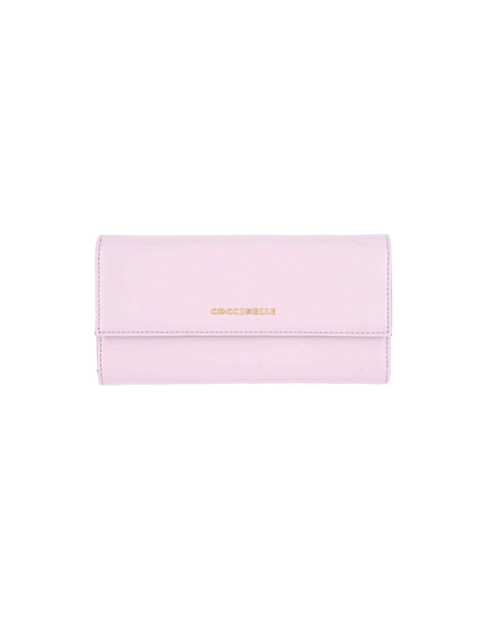 《送料無料》COCCINELLE レディース 財布 ライトピンク 牛革(カーフ)