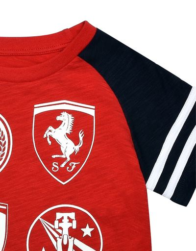 Scuderia Ferrari Online Store - Children's T-shirt with printed patches - Short Sleeve T-Shirts