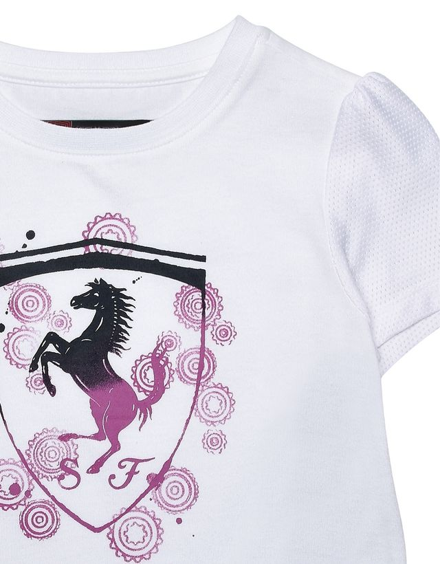 Scuderia Ferrari Online Store - Girls T-shirt with shield - Short Sleeve T-Shirts