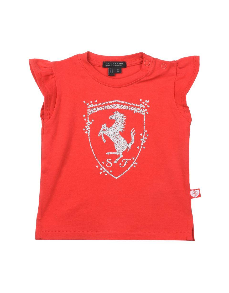 Scuderia Ferrari Online Store - T-shirt nouveau-née en coton - T-shirts à manches courtes