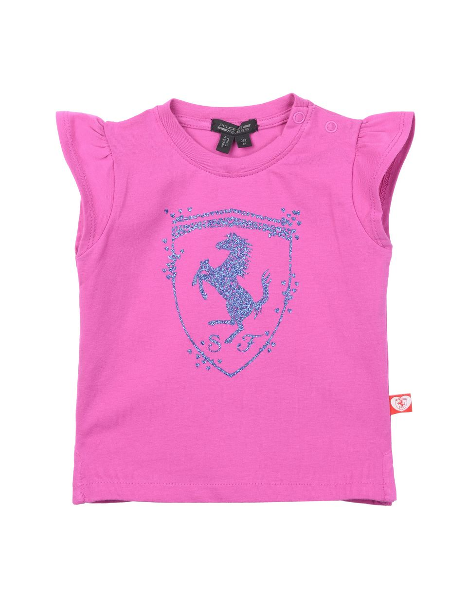 Scuderia Ferrari Online Store - T-shirt neonata in cotone - T-shirt manica corta