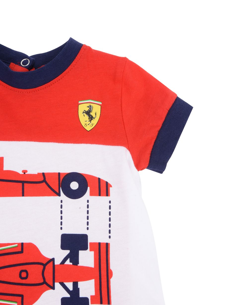 Scuderia Ferrari Online Store - Cotton baby play suit - Jumpsuits
