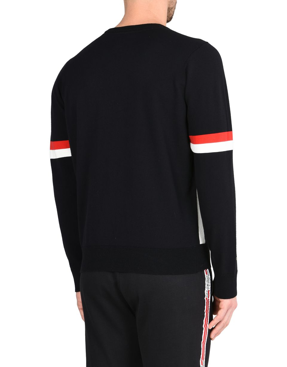Scuderia Ferrari Online Store - Men's crewneck sweater with Ferrari Shield -