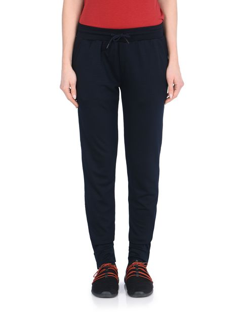 Jersey trousers with metal zip on the legs