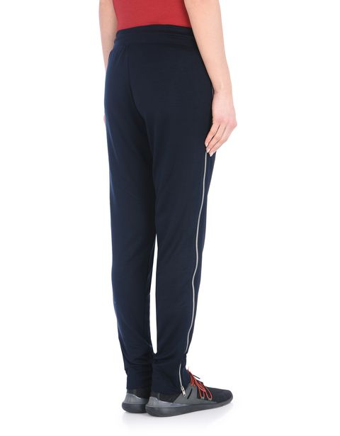 Jersey pants with metal zipper on the legs