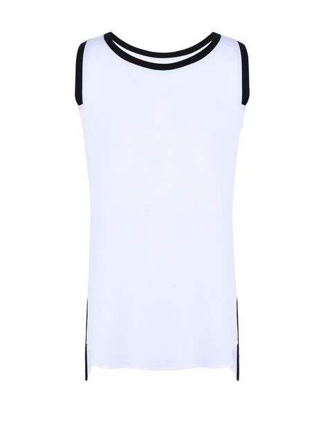 Scuderia Ferrari Online Store - Women's sleeveless top with contrasting inserts - Tank Tops