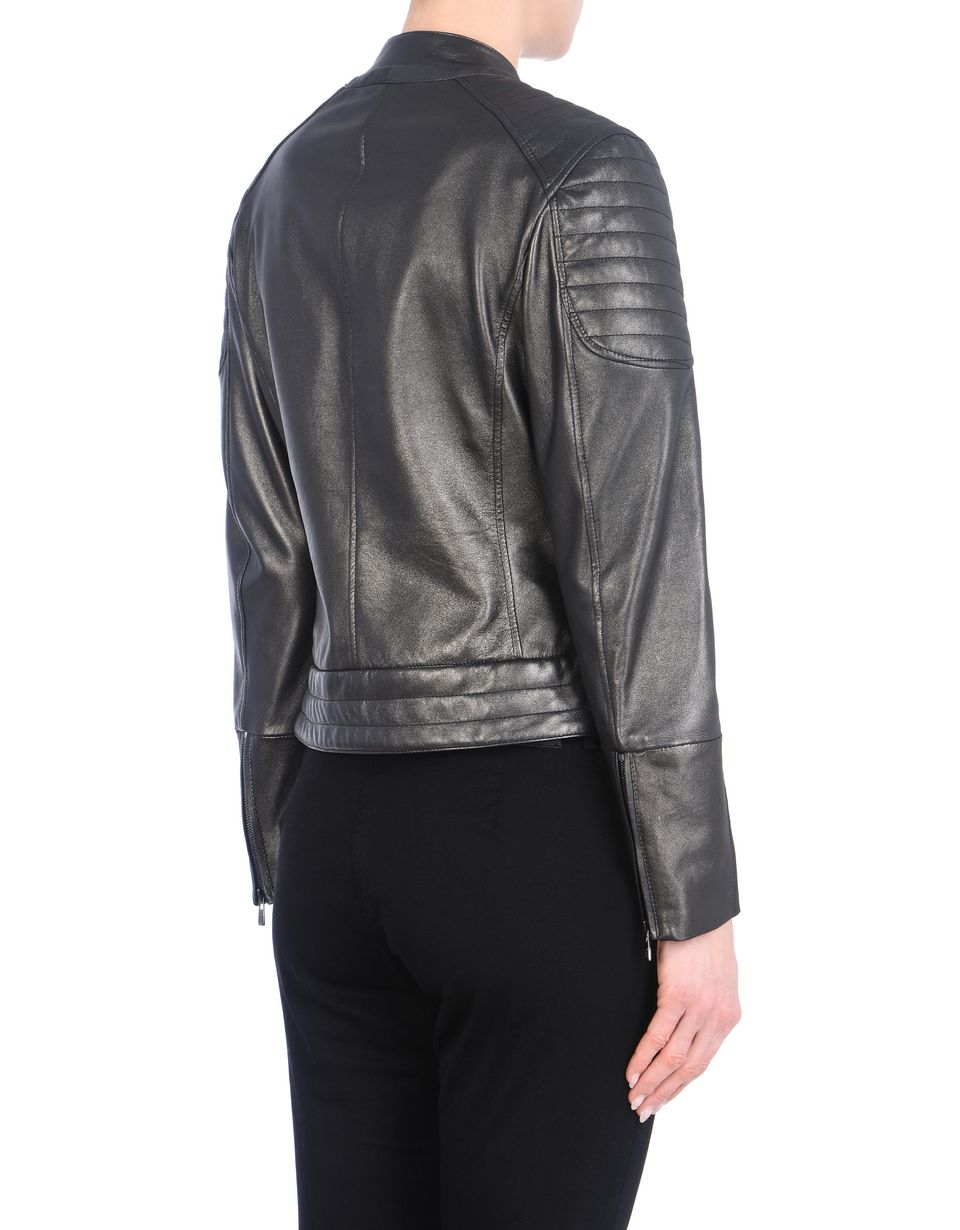 Scuderia Ferrari Online Store - Women's leather jacket with metallic finish -