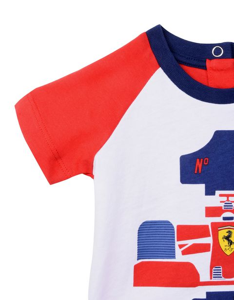 Scuderia Ferrari Online Store - Baby boy Formula 1 T-shirt in cotton jersey - Short Sleeve T-Shirts