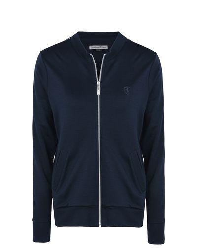 Scuderia Ferrari Online Store - Woman's jersey zip sweater - Zip Jumpers