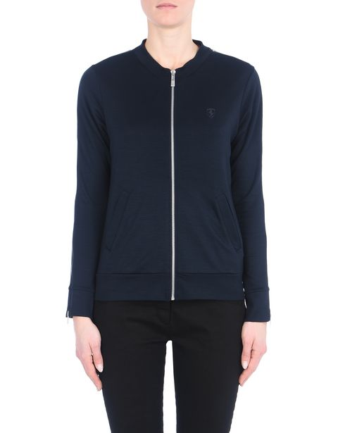 Woman's jersey zip sweater