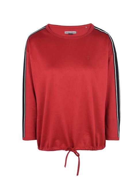 Scuderia Ferrari Online Store - Women's crewneck sweater with tone-on-tone Ferrari Shield - Crew Neck Jumpers