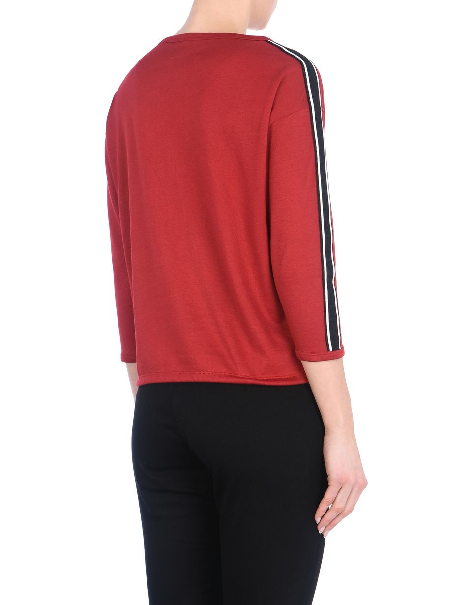 Scuderia Ferrari Online Store - Women's crewneck sweater with tone-on-tone Ferrari Shield -