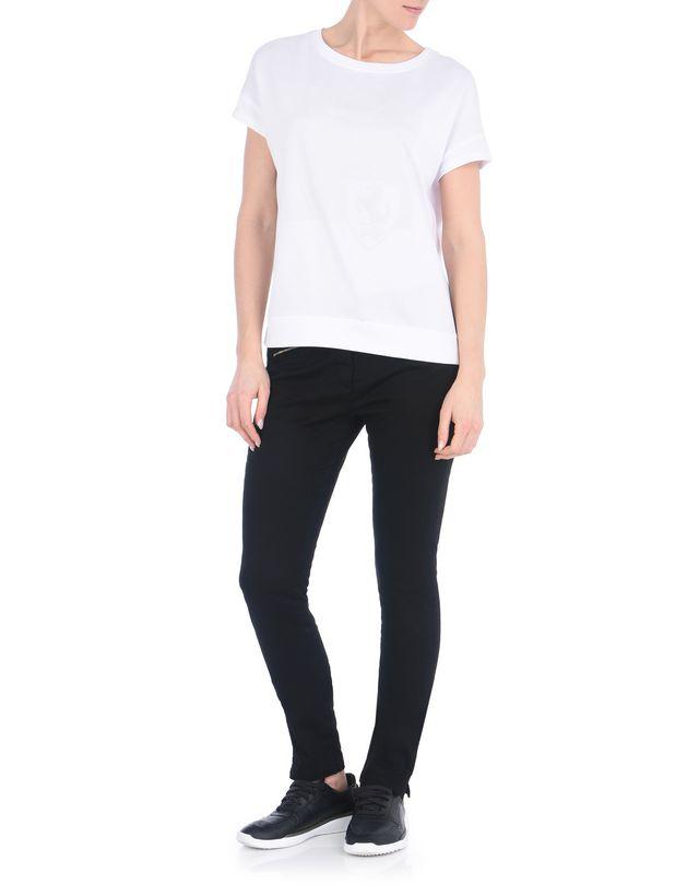 Scuderia Ferrari Online Store - T-shirt scollo a barca in jersey di misto cotone - T-shirt manica corta