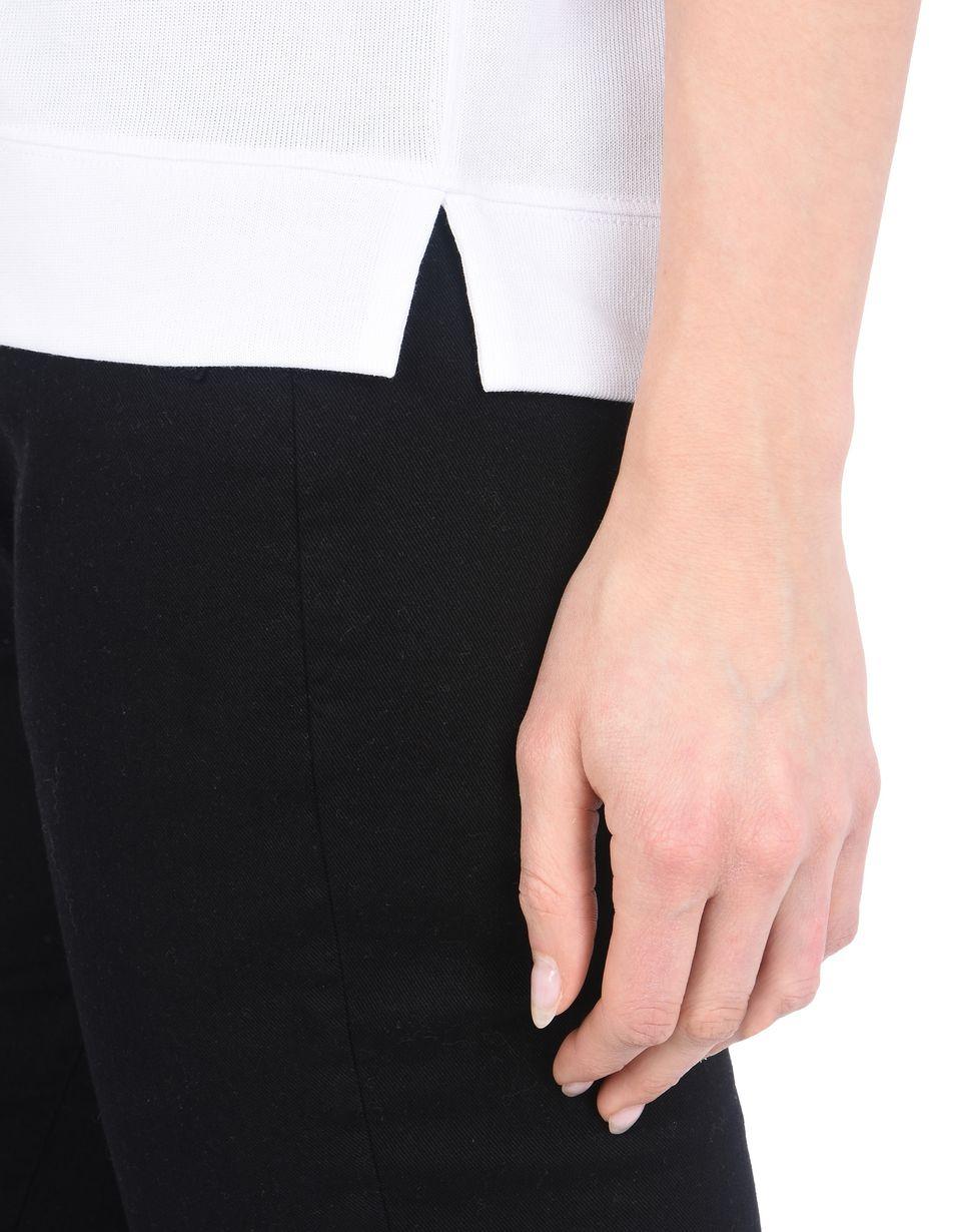 Scuderia Ferrari Online Store - Jersey cotton boat neck T-shirt. - Short Sleeve T-Shirts