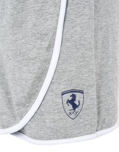 Scuderia Ferrari Online Store - Jupe fille  en coton stretch avec short dissimulé - Shorts