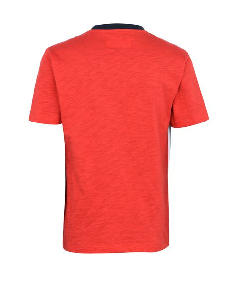 Two-tone T-shirt for teens in slub jersey