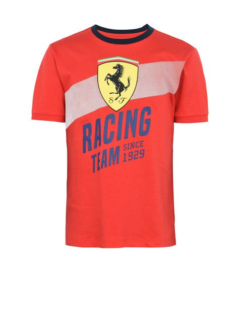 "Cotton T-shirt for teens with ""Racing Team"" print"