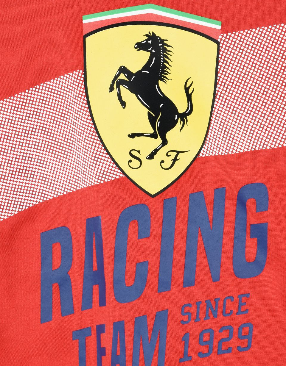"Scuderia Ferrari Online Store - Cotton T-shirt for teens with ""Racing Team"" print -"