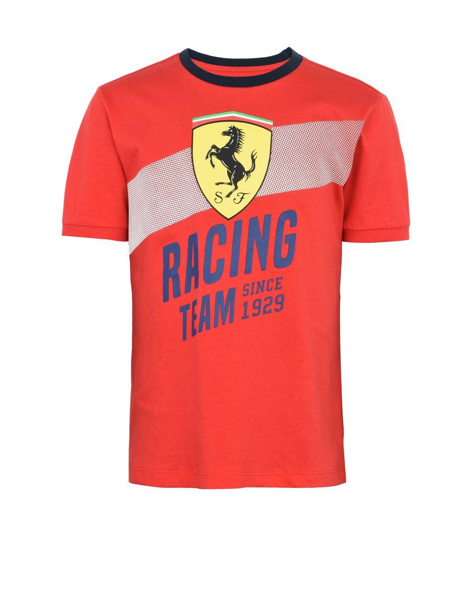 Scuderia Ferrari Online Store - T-shirt en coton enfant avec imprimé «Racing team» - T-shirts à manches courtes