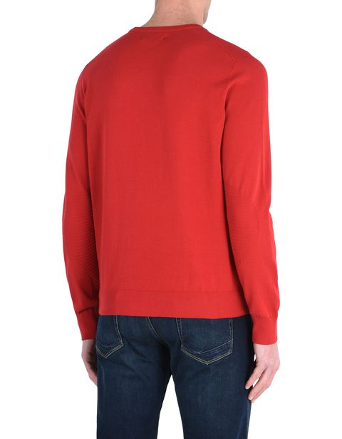 Long-sleeve sweater in Italian cotton yarn