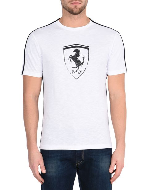 Men's crewneck T-shirt with Shield
