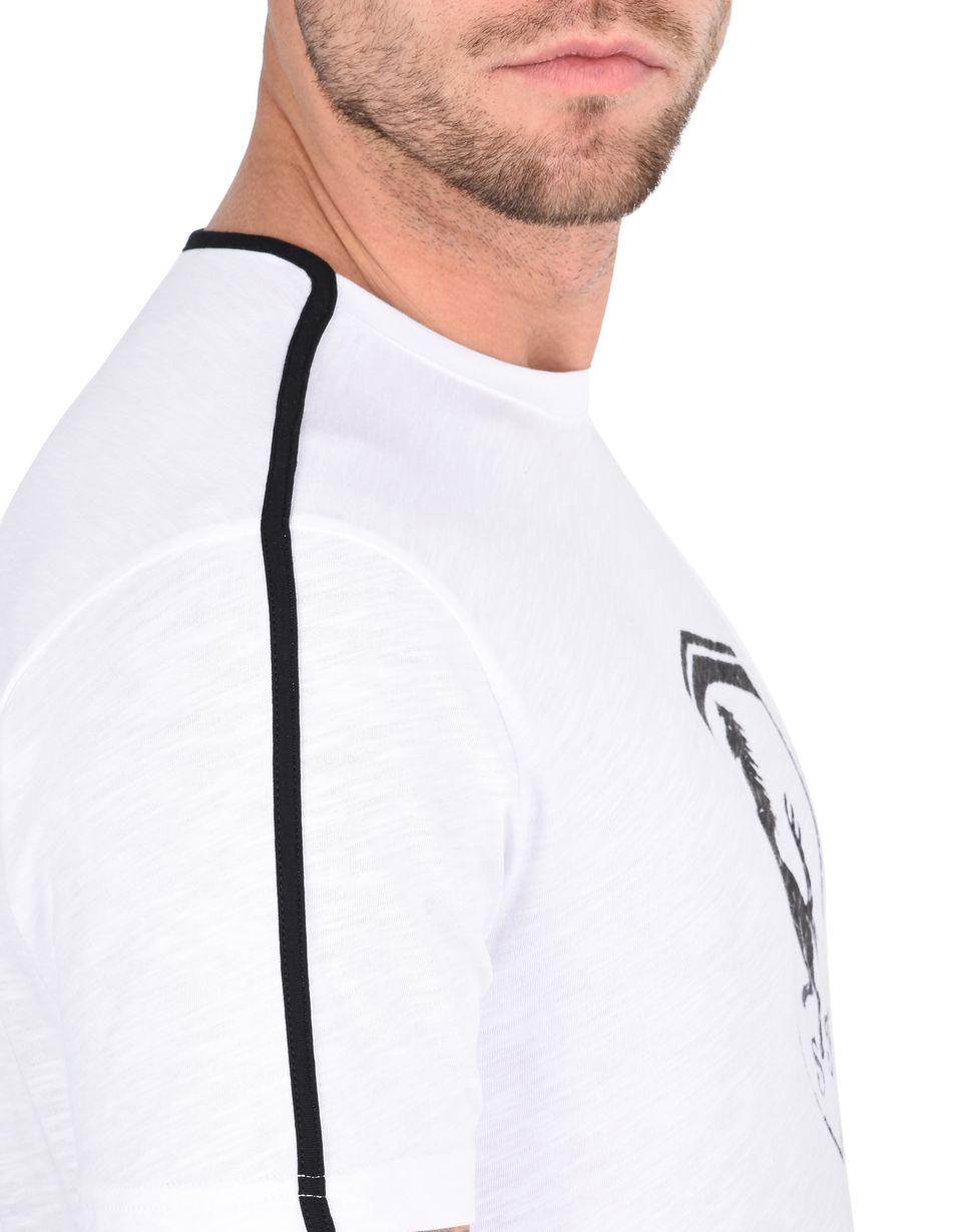 Scuderia Ferrari Online Store - Herren-T-Shirt mit Rundhalsausschnitt und Ferrari-Abzeichen - Kurzärmelige T-Shirts