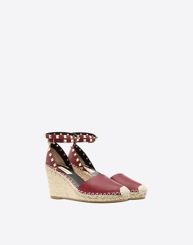 Rockstud espadrille wedge 60mm