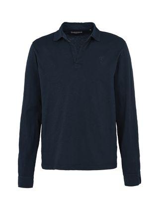 Scuderia Ferrari Online Store - Polo pour homme à manches longues en jersey volumineux - Polos à manches longues
