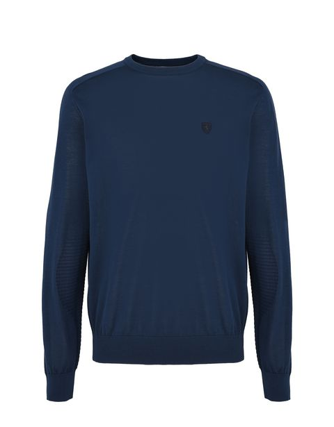 Scuderia Ferrari Online Store - Long-sleeve sweater in Italian cotton yarn -