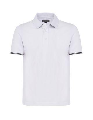 Scuderia Ferrari Online Store - Men's short-sleeve polo shirt in stretch piqué cotton -