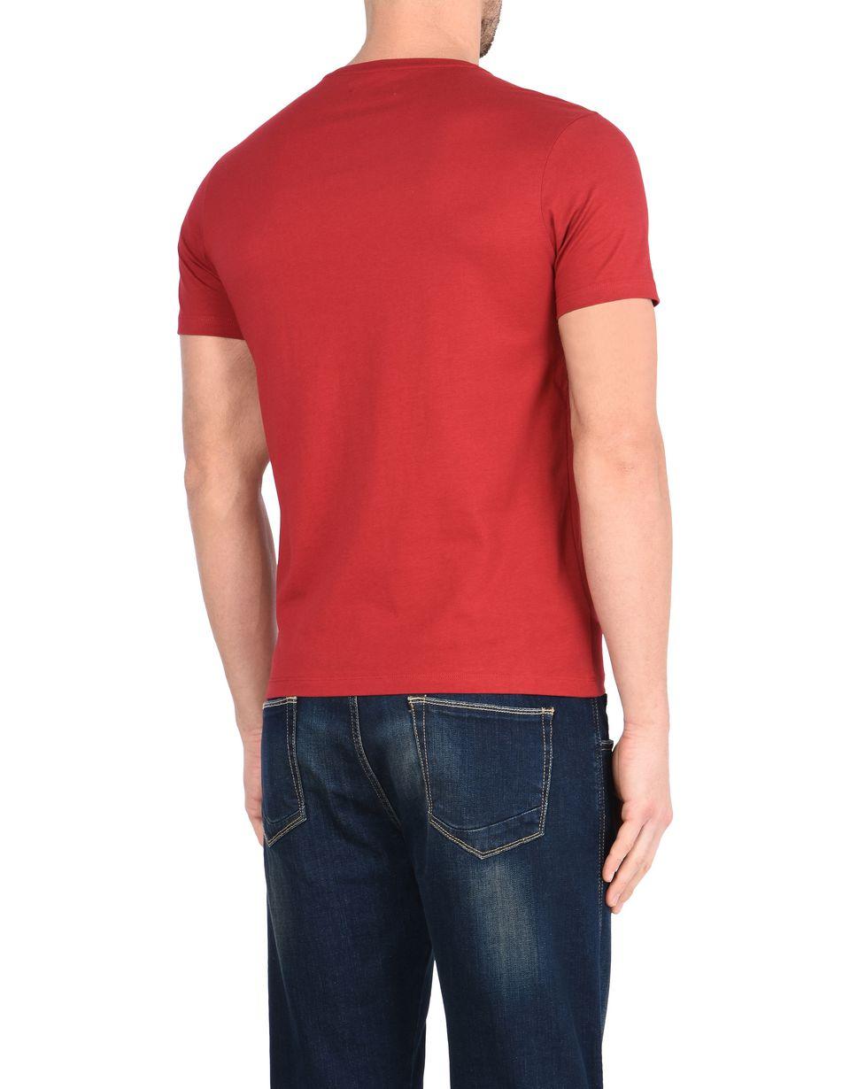 Scuderia Ferrari Online Store - T-shirt à col rond Scuderia Ferrari avec imprimé Formule 1 - T-shirts à manches courtes