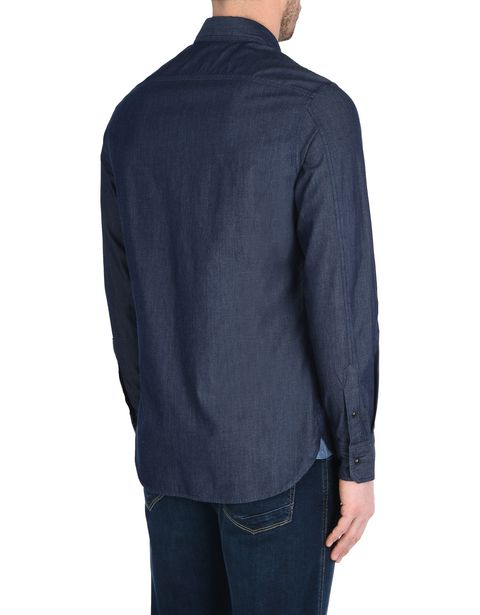 Men's long-sleeve denim shirt