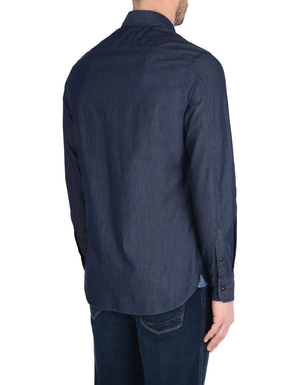 Scuderia Ferrari Online Store - Men's long-sleeve denim shirt - Long Sleeve Shirts