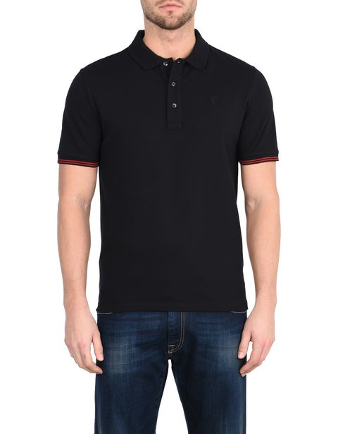 Polo uomo manica corta in cotone piquet stretch