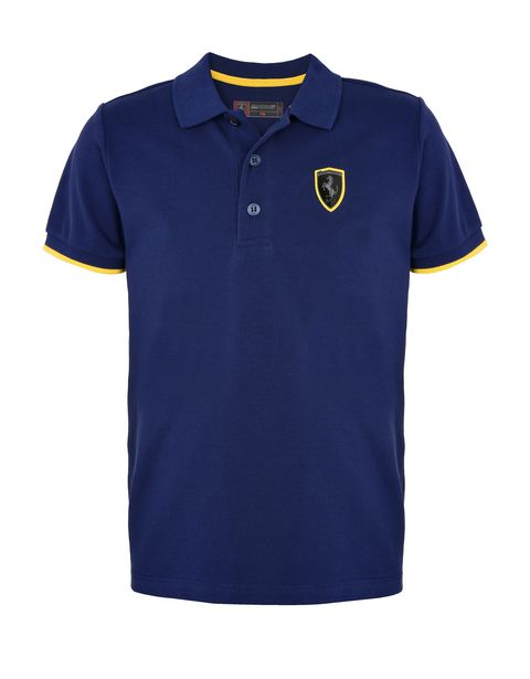 Polo shirt for teens with Shield and yellow detailing