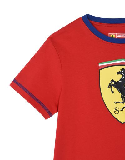 Scuderia Ferrari Online Store - T-shirt with Shield for teens -